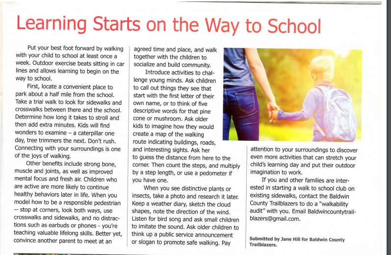 Why walk to school with your child? Let us count the reasons.